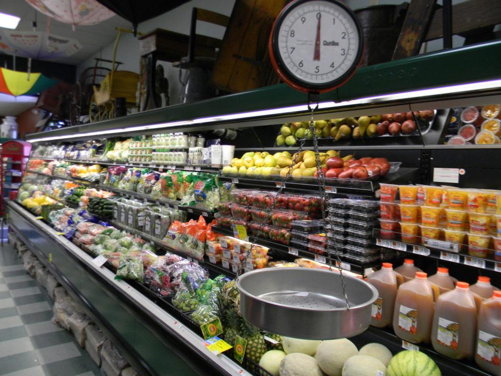 The produce Department at Umbrella Factory SUpermarkey