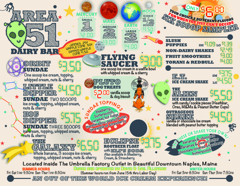Check out the best prices from the Area 51 Dairy Bar